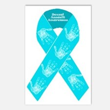 Sexual Assault Ribbon Postcards (Package of 8)