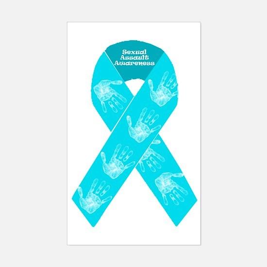 Sexual Assault Ribbon Sticker (Rectangle)