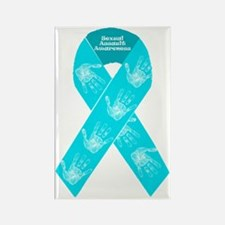 Sexual Assault Ribbon Rectangle Magnet