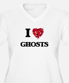 I love Ghosts Plus Size T-Shirt