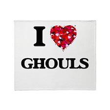 I love Ghouls Throw Blanket