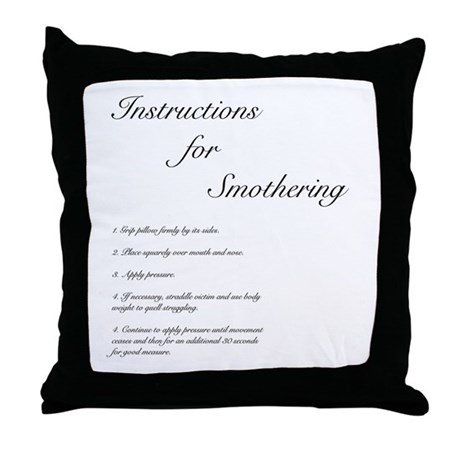 Instructions for Smothering Pillow