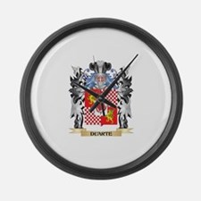 Duarte Coat of Arms - Family Cres Large Wall Clock
