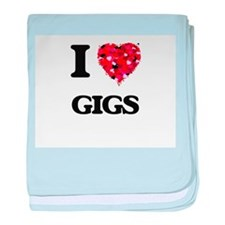I love Gigs baby blanket