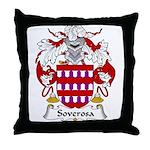 Soverosa Family Crest Throw Pillow