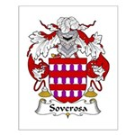 Soverosa Family Crest Small Poster