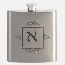 Aleph Hebrew monogram Flask