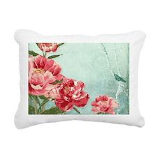 Pretty Retro Flower Peon Rectangular Canvas Pillow