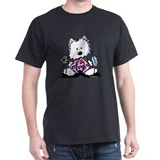 KiniArt Westie Flowers XOX T-Shirt