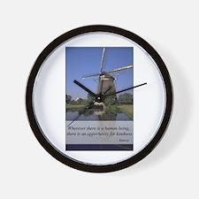 Windmill - Human Kindness Wall Clock