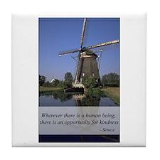 Windmill - Human Kindness Tile Coaster