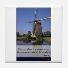 Windmill - Human Kindness Tile Coaster