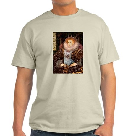 The Queen's Yorkie (T) Light T-Shirt