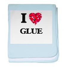 I love Glue baby blanket