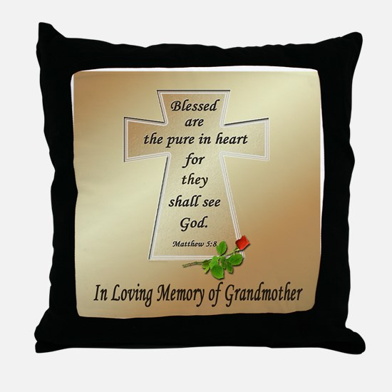 In Loving Memory of Grandmother Throw Pillow