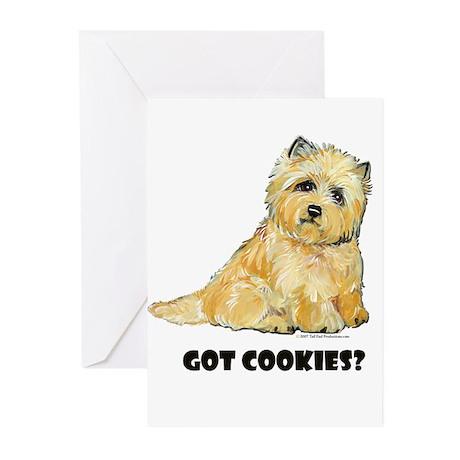 Cairn Terrier - Got Cookies? Greeting Cards (Pk of