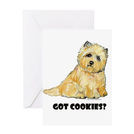 Cairn Terrier - Got Cookies? Greeting Card