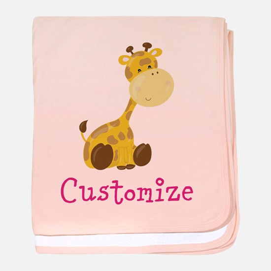 Custom Baby Giraffe baby blanket