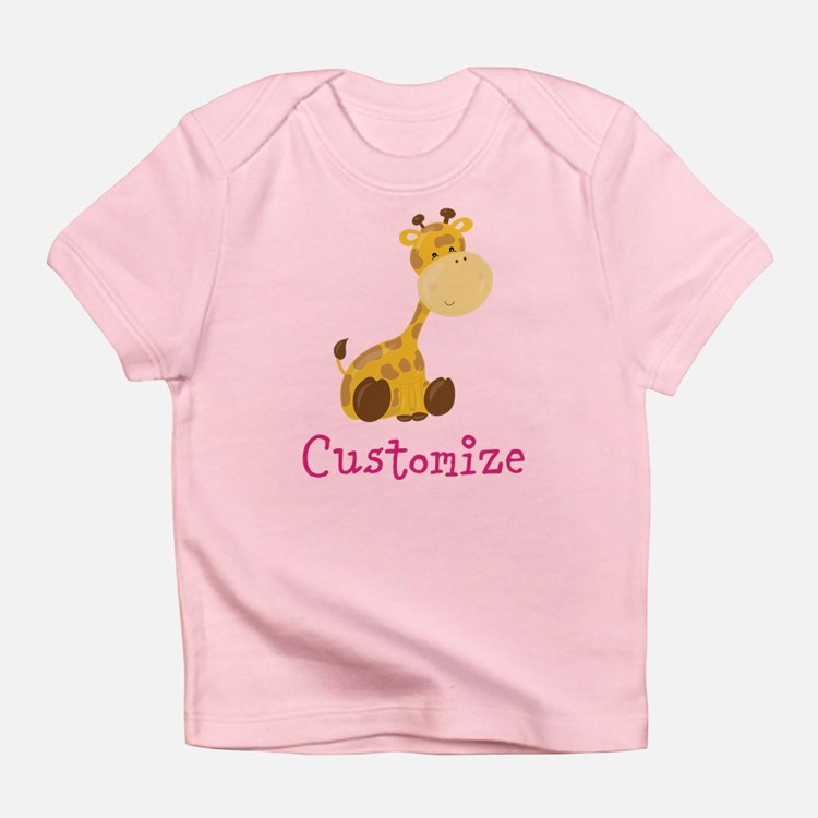 Giraffe baby clothes gifts baby clothing blankets for Baby custom t shirts