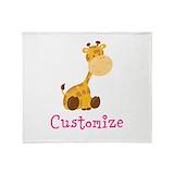 Baby giraffe Fleece Blankets