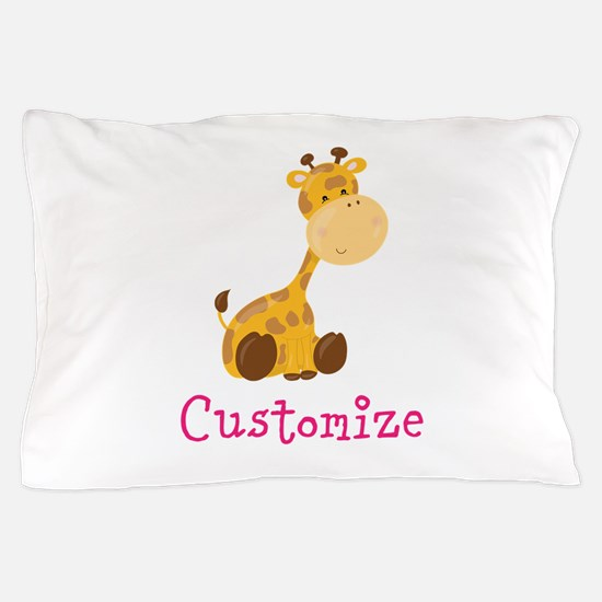 Custom Baby Giraffe Pillow Case