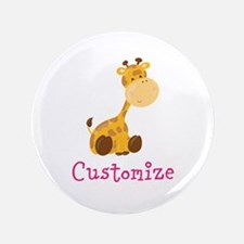 Custom Baby Giraffe Button