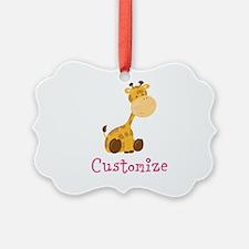 Custom Baby Giraffe Ornament