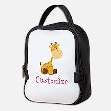 Custom Baby Giraffe Neoprene Lunch Bag
