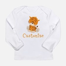 Custom Baby Tiger Long Sleeve Infant T-Shirt