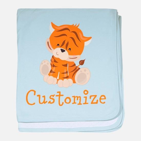 Custom Baby Tiger baby blanket