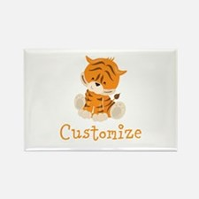 Custom Baby Tiger Rectangle Magnet