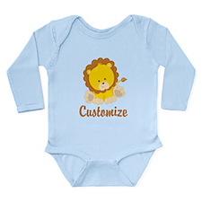 Custom Baby Lion Long Sleeve Infant Bodysuit