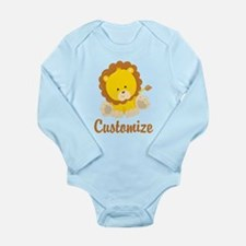 Custom Baby Lion Long Sleeve Infant Bodysuit