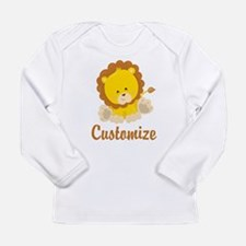 Custom Baby Lion Long Sleeve Infant T-Shirt