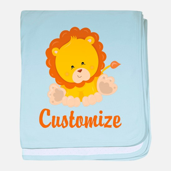 Custom Baby Lion baby blanket