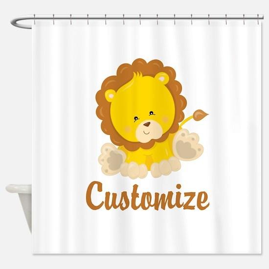 Custom Baby Lion Shower Curtain
