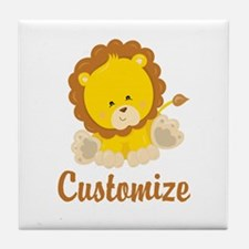 Custom Baby Lion Tile Coaster