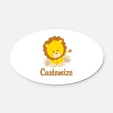Custom Baby Lion Oval Car Magnet