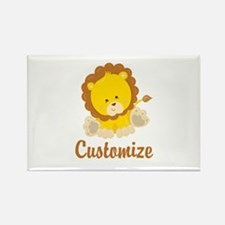 Custom Baby Lion Rectangle Magnet