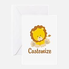 Custom Baby Lion Greeting Card