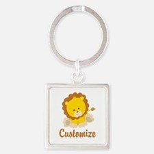 Custom Baby Lion Square Keychain