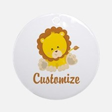 Custom Baby Lion Round Ornament