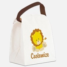Custom Baby Lion Canvas Lunch Bag
