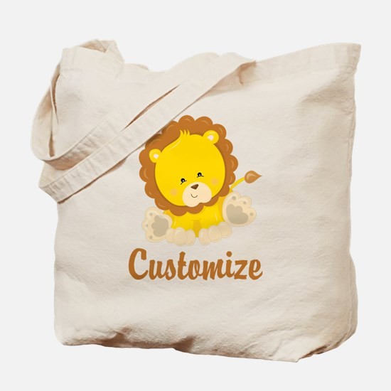 Custom Baby Lion Tote Bag