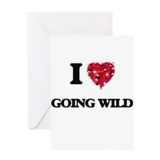 I love Going Wild Greeting Cards