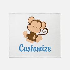 Custom Monkey Throw Blanket