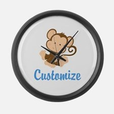 Custom Monkey Large Wall Clock
