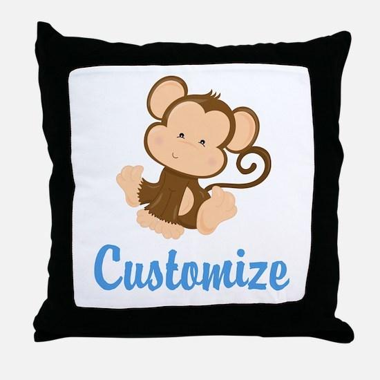 Custom Monkey Throw Pillow
