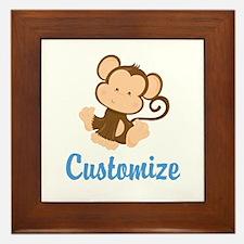 Custom Monkey Framed Tile
