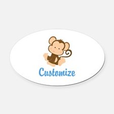 Custom Monkey Oval Car Magnet